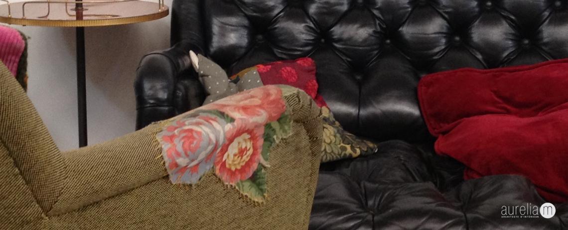 Accoudoir brodé, fauteuil Rosalina Bar